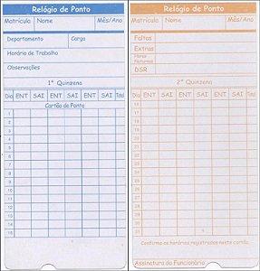 Cartão de ponto com controle de quinzena para relógio cartográfico