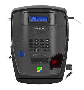 Relógio de ponto REP biométrico Biofácil Bioprox-C - certificado Inmetro - com guilhotina automática, software de apuração de ponto e bobina