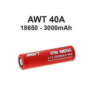 Bateria/ Pilha IMR 18650 - 3.7V 3000mAh 40A - AWT