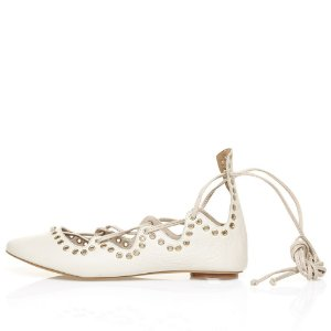 Sapatilha Asapatilha Astromélia Lace Up Ilhos  Off White