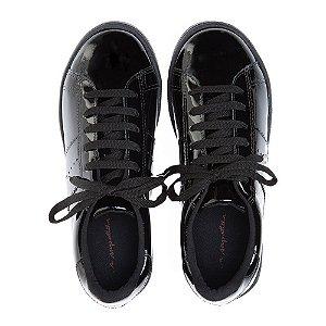 Sneaker Asapatilha Verniz Preto