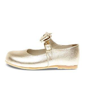 Sapato Asapatilha Mary Jane Ouro