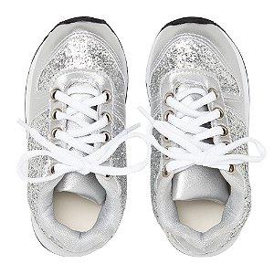 Sneaker Ananás Glitter Prata