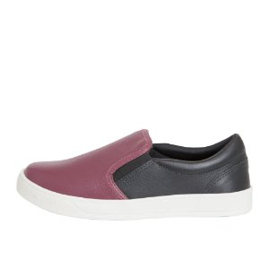 Slip On Asapatilha Bicolor Burgundy