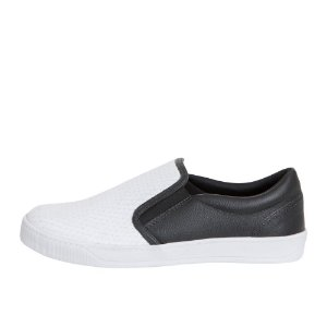 Slip On Asapatilha Bicolor Escama Branco
