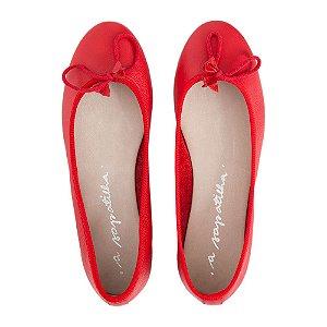 Sapatilha Asapatilha Bailarina Vermelha
