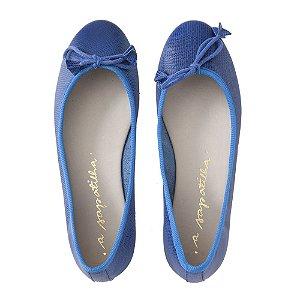 Sapatilha Asapatilha Bailarina Azul Arraia