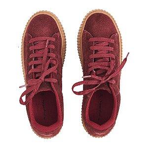 Sneaker Asapatilha Sola Caramelo Burgundy