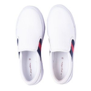 Sneaker Asapatilha High Branco Listra Red