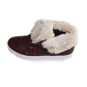 Sneaker Asapatilha Fur Burgundy