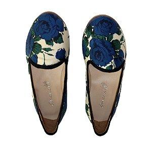 Brogue Ananás Floral Azul