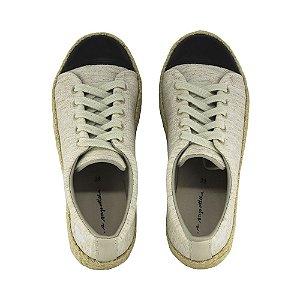 Sneaker Asapatilha Rope Linho Off White Biqueira