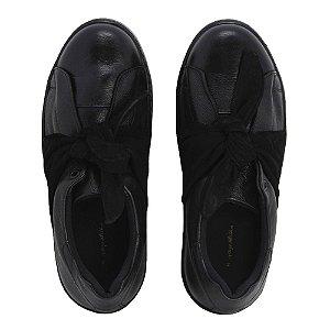 Sneaker Asapatilha Marina Preto Laço Suede