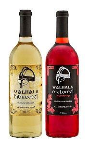 Combo Valhala Hidromel: 1 Tradicional + 1 Melomel Raspberry