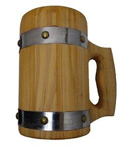 Caneca Medieval - Madeira Pinheiro - Vikings - Cerveja - Hidromel