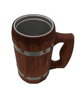 Caneca Medieval - Madeira Cedrilho - Vikings - Cerveja - Hidromel