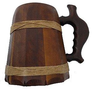 Caneca Medieval Madeira - Imbuia - Vikings - Hidromel - Cerveja