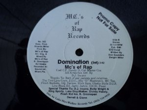 MCS OF RAP - DOMINATION