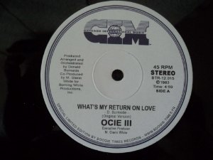 OCIE III - WHAT'S RETURN ON LOVE