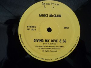 JANICE MCCLAIN - GIVING MY LOVE