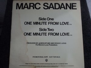 MARC SADANE - ONE MINUTE FROM LOVE