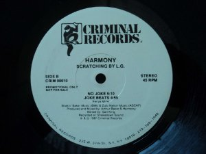 HARMONY - NO JOKE - DANCE TO THE DRUMS