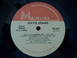 GAYLE ADAMS - I´M WARNING YOU