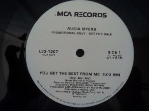 ALICIA MYERS - YOU GET THE BEST FROM ME