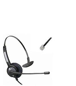 Headset Rj9 Topuse Htu300 Monoauricular para Telefones IP