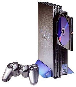 Playstation 2 Destravado com 1 Controle Sony e Memory Card Sony 8MB + 5 jogos - usado