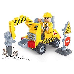 Blocos Tipo Lego Britadeira 70 Peças Click It