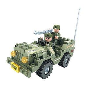 Blocos de Montar Jipe do Exército 108 Peças Click It - Play Cis