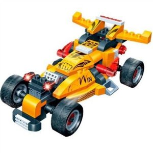 Blocos De Montar Carro De Corrida Turbo Power 132 Peças - Banbao