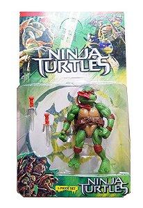 Boneco Tartarugas Ninja Articulado Com Acessório