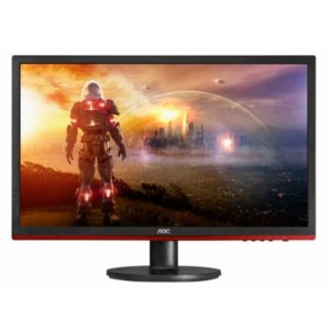 "Monitor Gamer AOC G2460VQ6 1ms 75HZ Tela LED 24"" Full HD Widescreen Preto/vermelho"