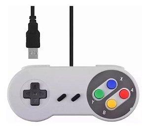 Controle Joystick USB Feir CR-008 modelo Super Nintendo - PC / Mac