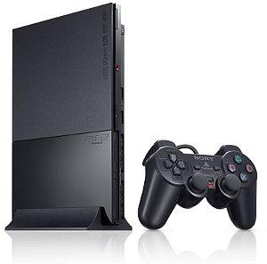 (usado) PlayStation 2 Slim Destravado Com 1 Controle Sony