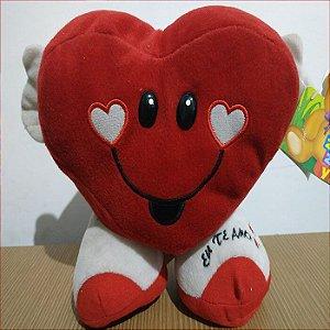 Item Adicional - Coração de Pelúcia com Braços e Pernas