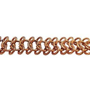 09-0229 - Rolo com 50 Metros de Corrente Cordão em Ferro 13,3mm