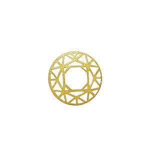 01-1579 - 1/2Kg de Estamparia Diamantada Redonda Geométrica 34mm