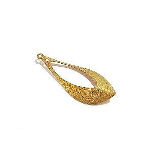 01-1419 - 1/2Kg de Estamparia Diamantada Gota com Recorte Interno 34mmx14mm