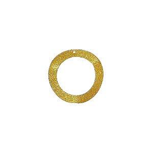 01-1319 - 1/2Kg de Estamparia Diamantada Aro Ondulado 34mm