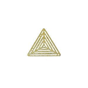 01-1869 - 1/2Kg de Estamparia Diamantada Triangular Vazada 30mm
