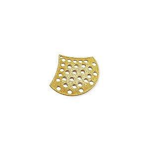 01-1645 - 1/2Kg de Estamparia Diamantada com Detalhe em Círculos 23mmx26mm