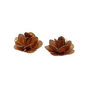 01-0558 - Pacote com 100 Flores com Pétalas em Cobre 28mm