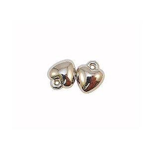 00-0059 - Pacote com 1 Kg de Pingente Coração em ABS 13mm