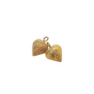 01-1422 - Pacote com 100 Pingentes Diamantado Coração 12mmx16mm