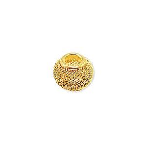 01-1511 - Pacote com 100 Berloques em Latão Tela estilo Pandora 11mmx14mm