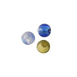 11-0058 - Pacote com 10 Bolas de Vidro Coloridas 12mm