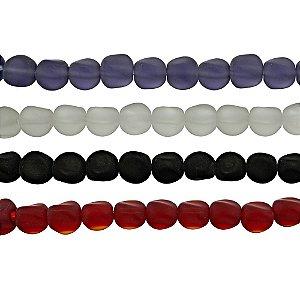 11-0057 - Fio de Contas de Vidro Fosco Coloridos 9mm